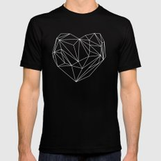 Heart Graphic MEDIUM Mens Fitted Tee Black