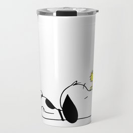 snoopy tired Travel Mug