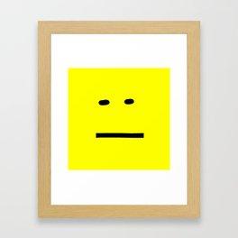 anxiety awareness face Framed Art Print