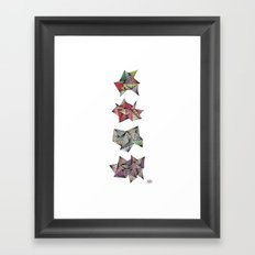 Spikey Friends Framed Art Print