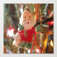 santa Canvas Prints featuring Santa by lillianhibiscus