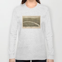 Vintage Pictorial Map of Fairmont WV (1897) Long Sleeve T-shirt