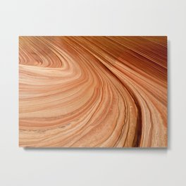 Sandstone Swirl Metal Print