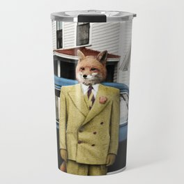 Mr. Fox posing with his new car Travel Mug