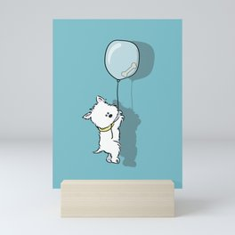 Hungry Westie Puppy Mini Art Print