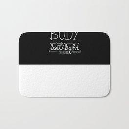 GREAT CAMERA BODY Bath Mat