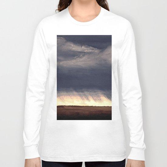 Storm Over Saskatchewan Fields Long Sleeve T-shirt