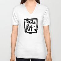 kit king V-neck T-shirts featuring Biatch Kit by vectalex