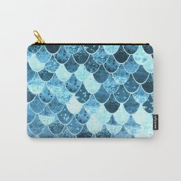 REALLY MERMAID SILVER BLUE Carry-All Pouch