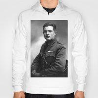 hemingway Hoodies featuring Ernest Hemingway in Uniform, 1918 by Limitless Design