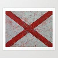 alabama Art Prints featuring Alabama by Michael Creese