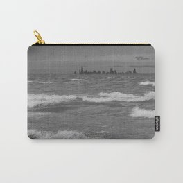 Windy City Skyline bw Carry-All Pouch