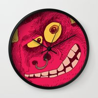 beast Wall Clocks featuring Beast by Steve Steiner