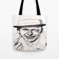 frank sinatra Tote Bags featuring Frank by Paul Nelson-Esch Art