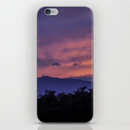 Sunset silhouette iPhone Skin