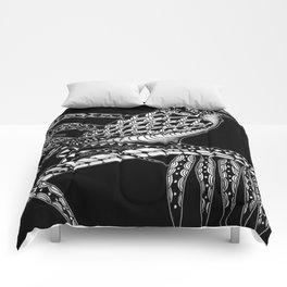Tangled Kookaburra on Black Comforters