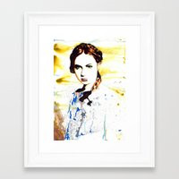 amy pond Framed Art Prints featuring Karen Gillan (Amy Pond) by TheJollyRambler