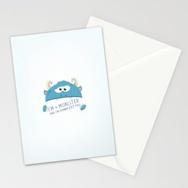 I Am A Monster And I Am Gonna Eat You Stationery Cards