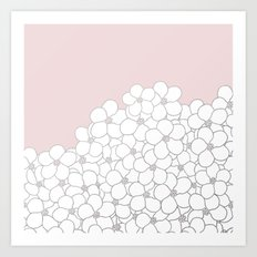 Forget Me Knot Pink Boarder Art Print