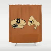 police Shower Curtains featuring Police Academy by FilmsQuiz