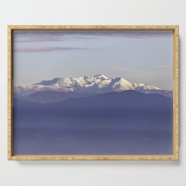 Snowy Italian Apennines mountains Serving Tray