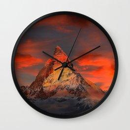 Mountain Matterhorn Switzerland Wall Clock