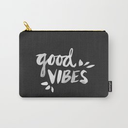 Good Vibes – White Ink Carry-All Pouch