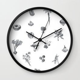 Favorite Veggies Wall Clock