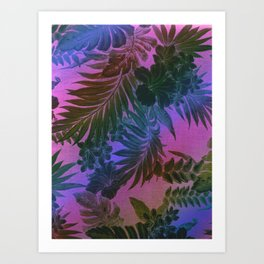 Happy Aloha Purple Art Print
