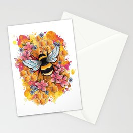 Neo Traditional Bee Stationery Cards