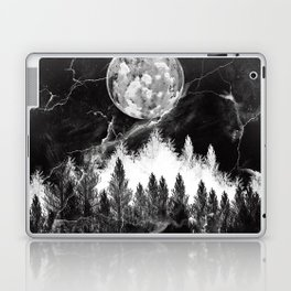 marble black and white landscape Laptop & iPad Skin