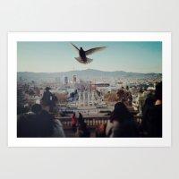 barcelona Art Prints featuring Barcelona by Alfredo Lietor