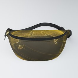 Futuristic Earth hologram Fanny Pack