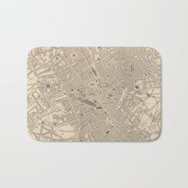 Vintage Map of Birmingham England (1851) Bath Mat