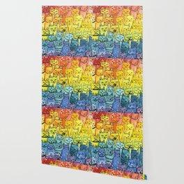 the pride cat rainbow  squad Wallpaper