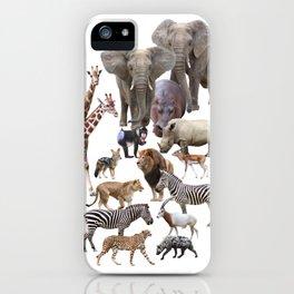 African Animals iPhone Case