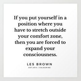 23    |  Les Brown  Quotes | 190824 Art Print