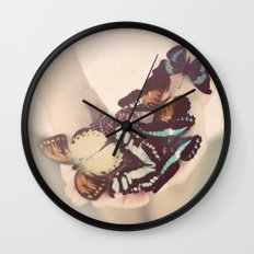 butterfly collector Wall Clock