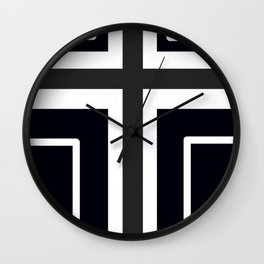 Crossed Wall Clock