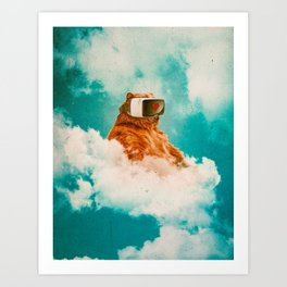Living On The Cloud Art Print