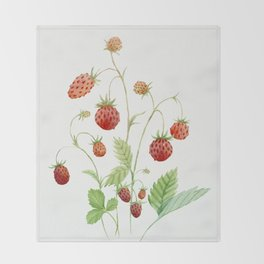 Wild Strawberries Throw Blanket