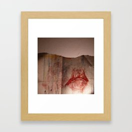 Lips #6 Framed Art Print