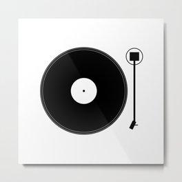 gramofon Metal Print