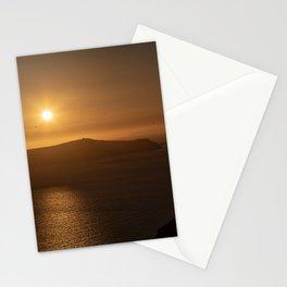 Golden Hour in Santorini Stationery Cards