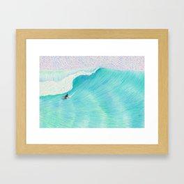 SURF GUITAR no. 2   WATER COLOR Framed Art Print