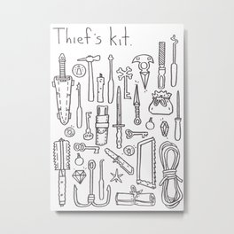 Thief's  Kit Metal Print