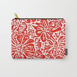 Marigold Lino Cut, Rad Red Carry-All Pouch