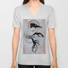 The Crow Woman Unisex V-Neck