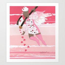 Battle Cupid:Ax Art Print
