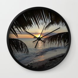 Caribbean Sunrise Wall Clock